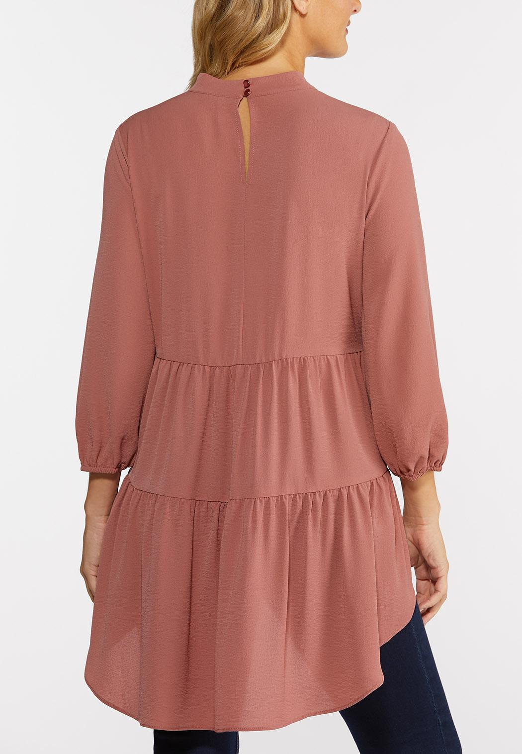 Plus Size Rose High-Low Tunic (Item #44375736)