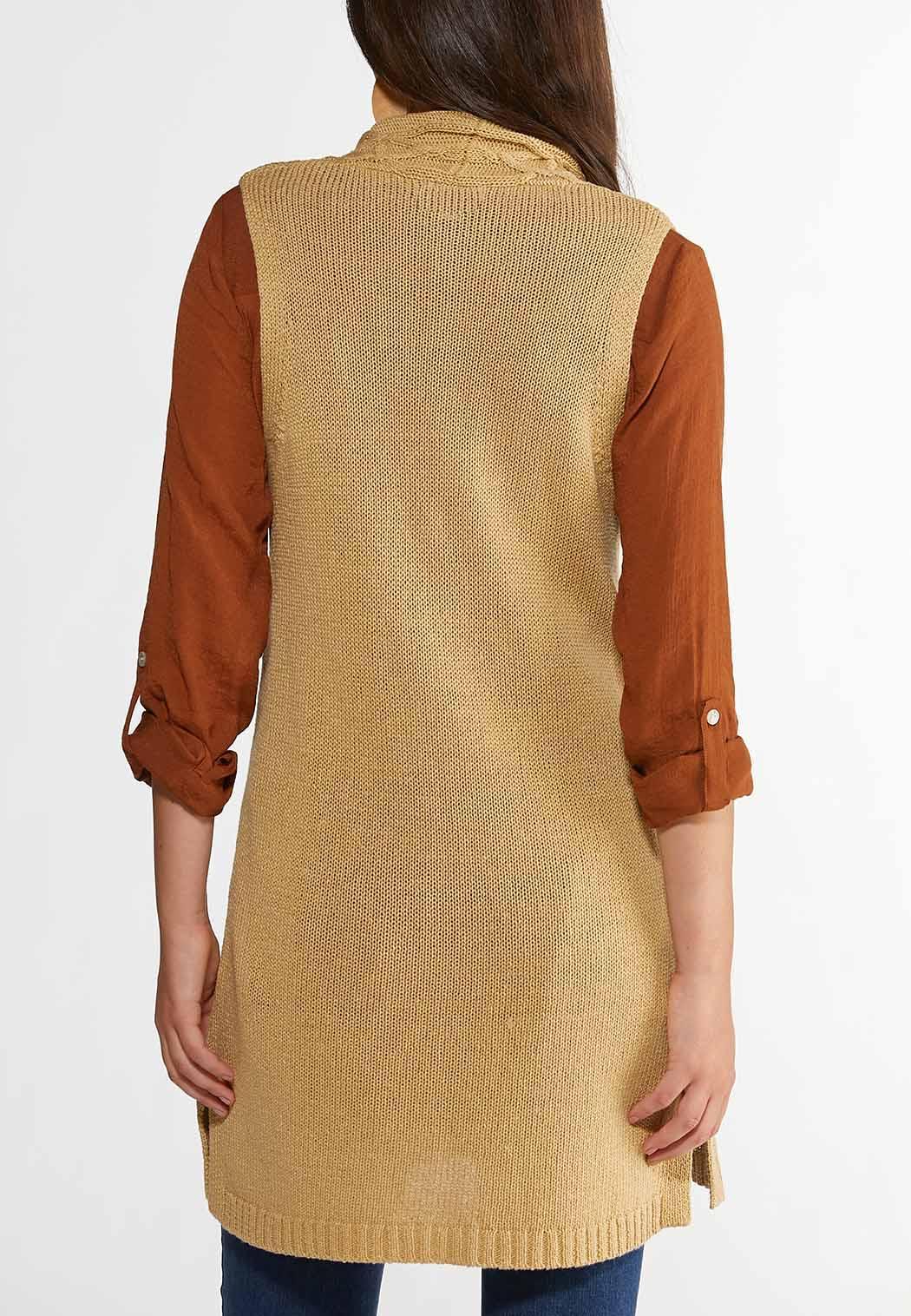 Plus Size Cable Front Sweater Vest (Item #44375959)