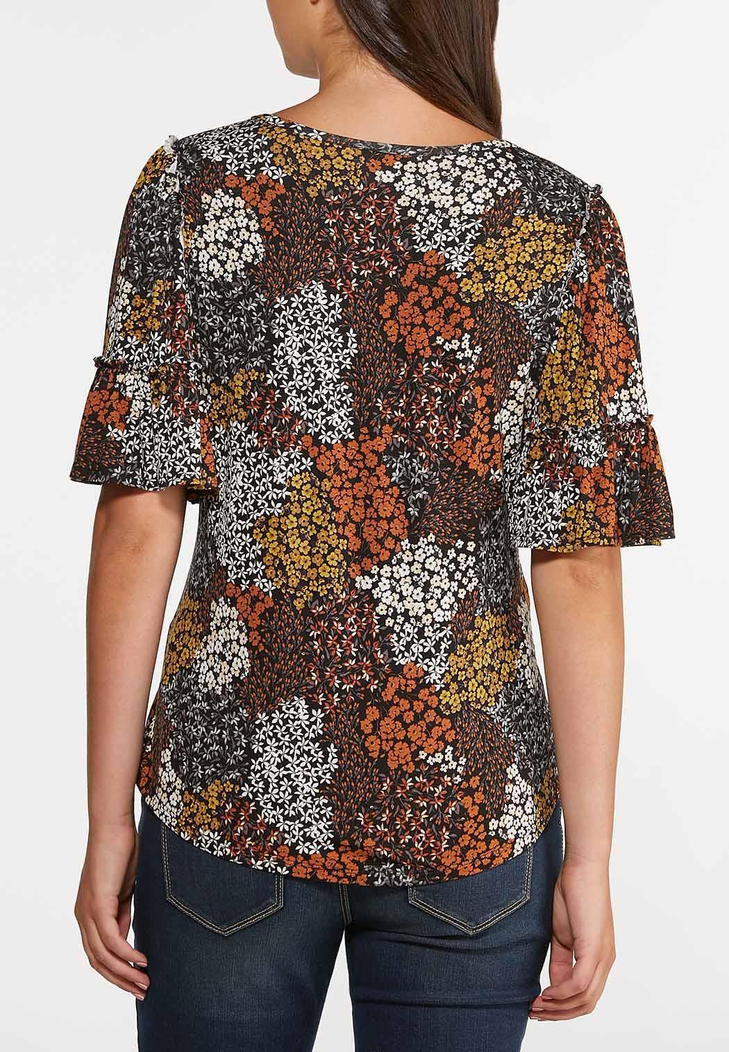 Plus Size Honey Floral Top (Item #44376301)