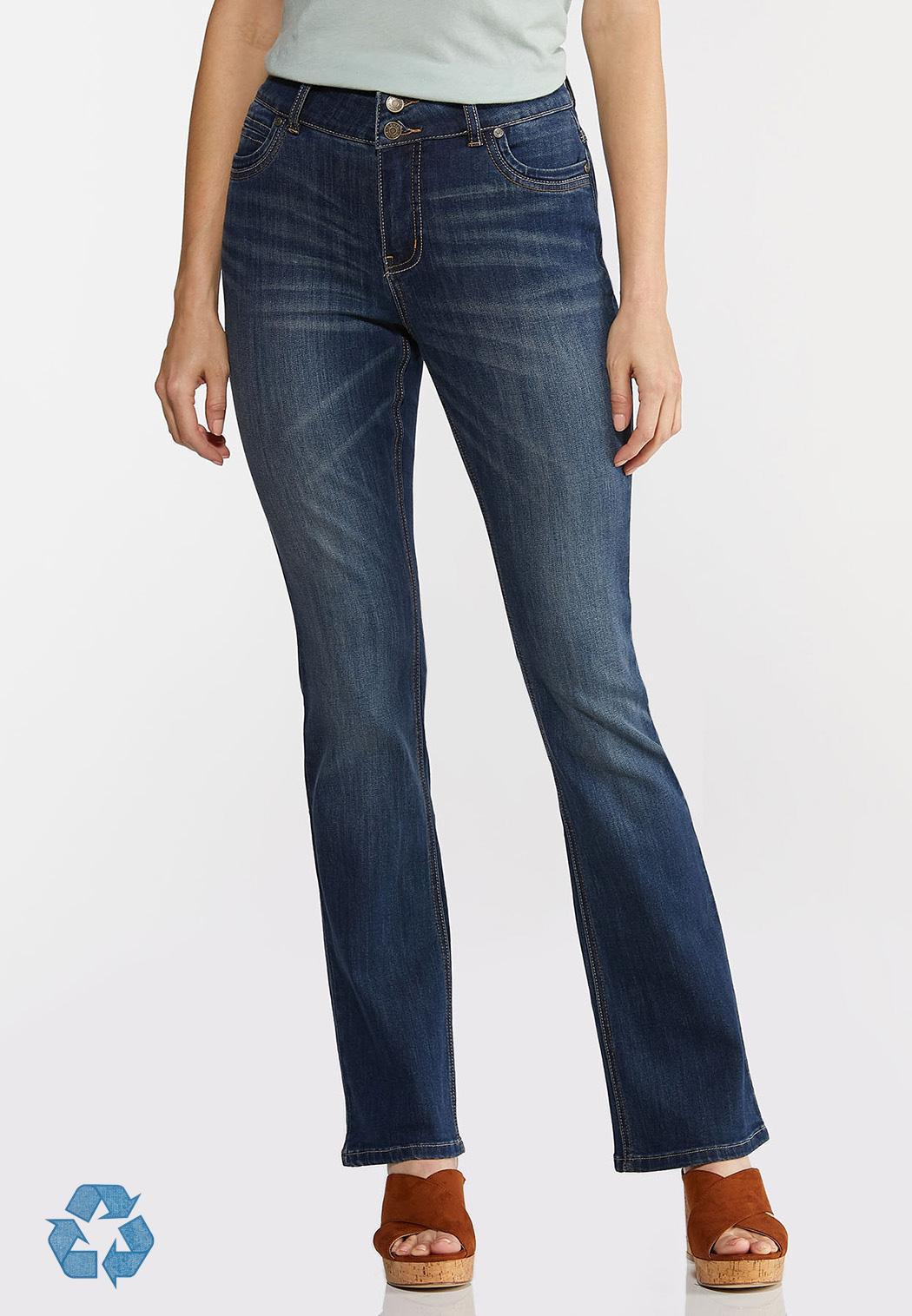 Petite High-Rise Bootcut Jeans (Item #44376922)