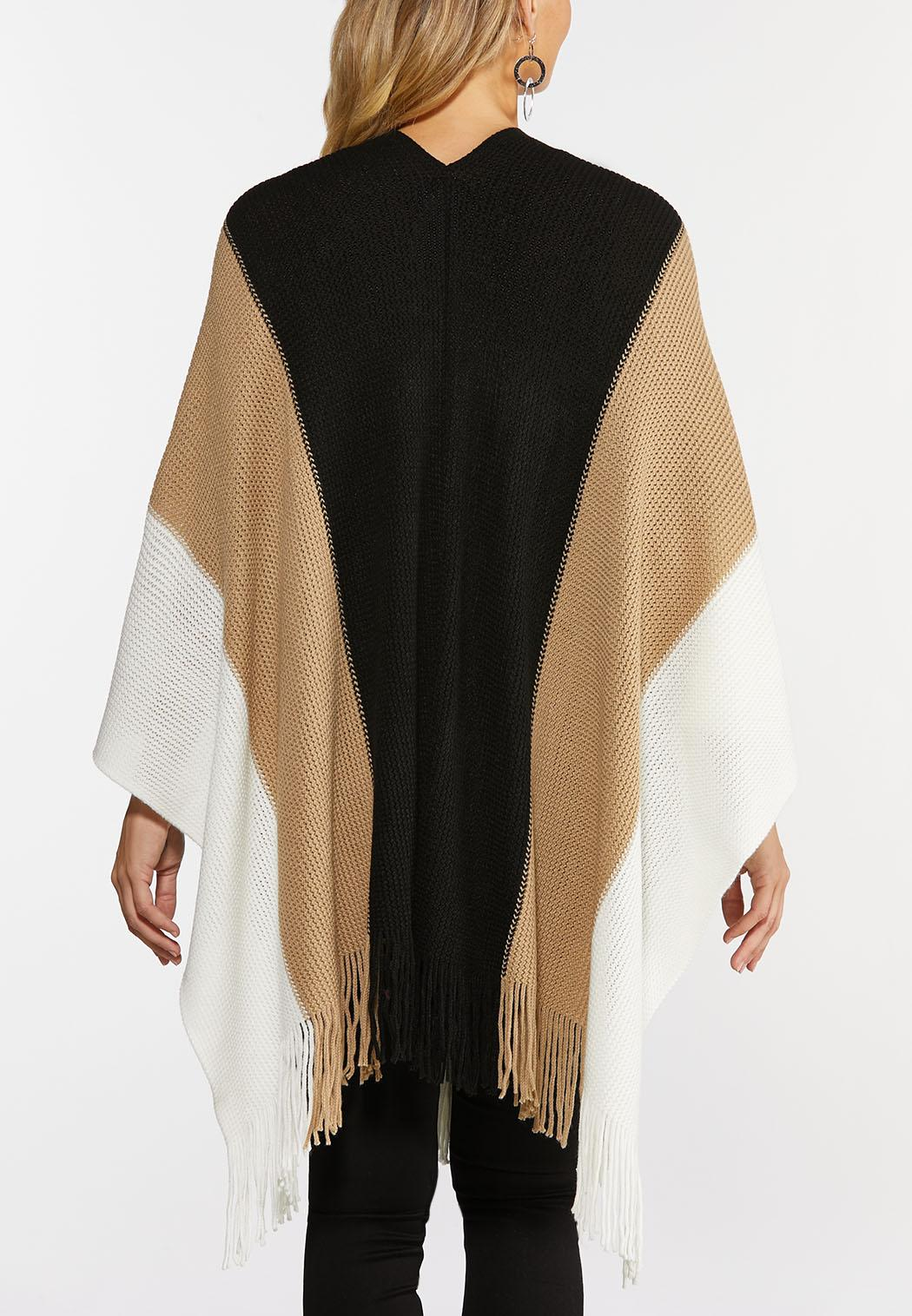 Fringed Colorblock Wrap (Item #44378042)