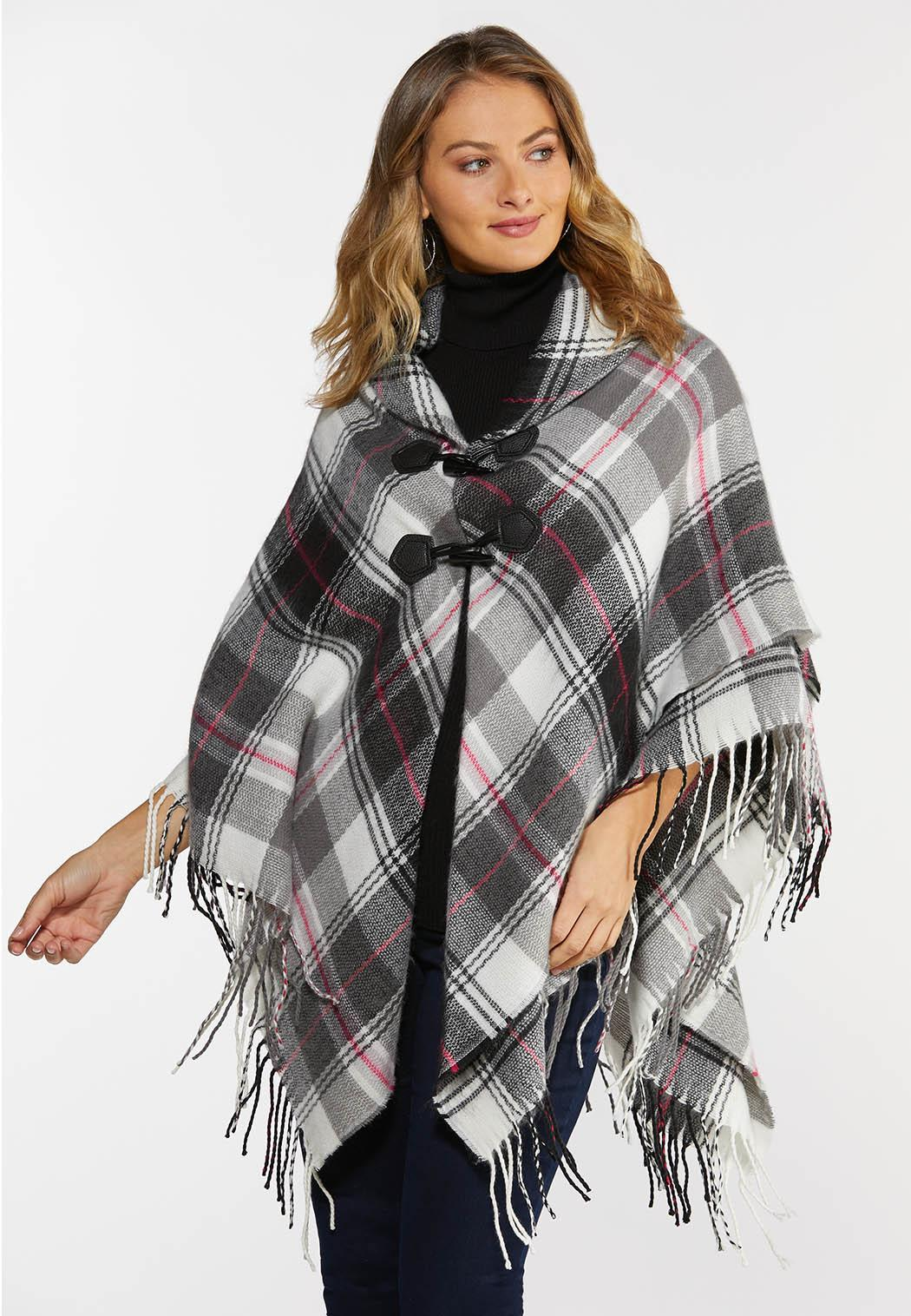 Plaid Toggle Poncho (Item #44378074)
