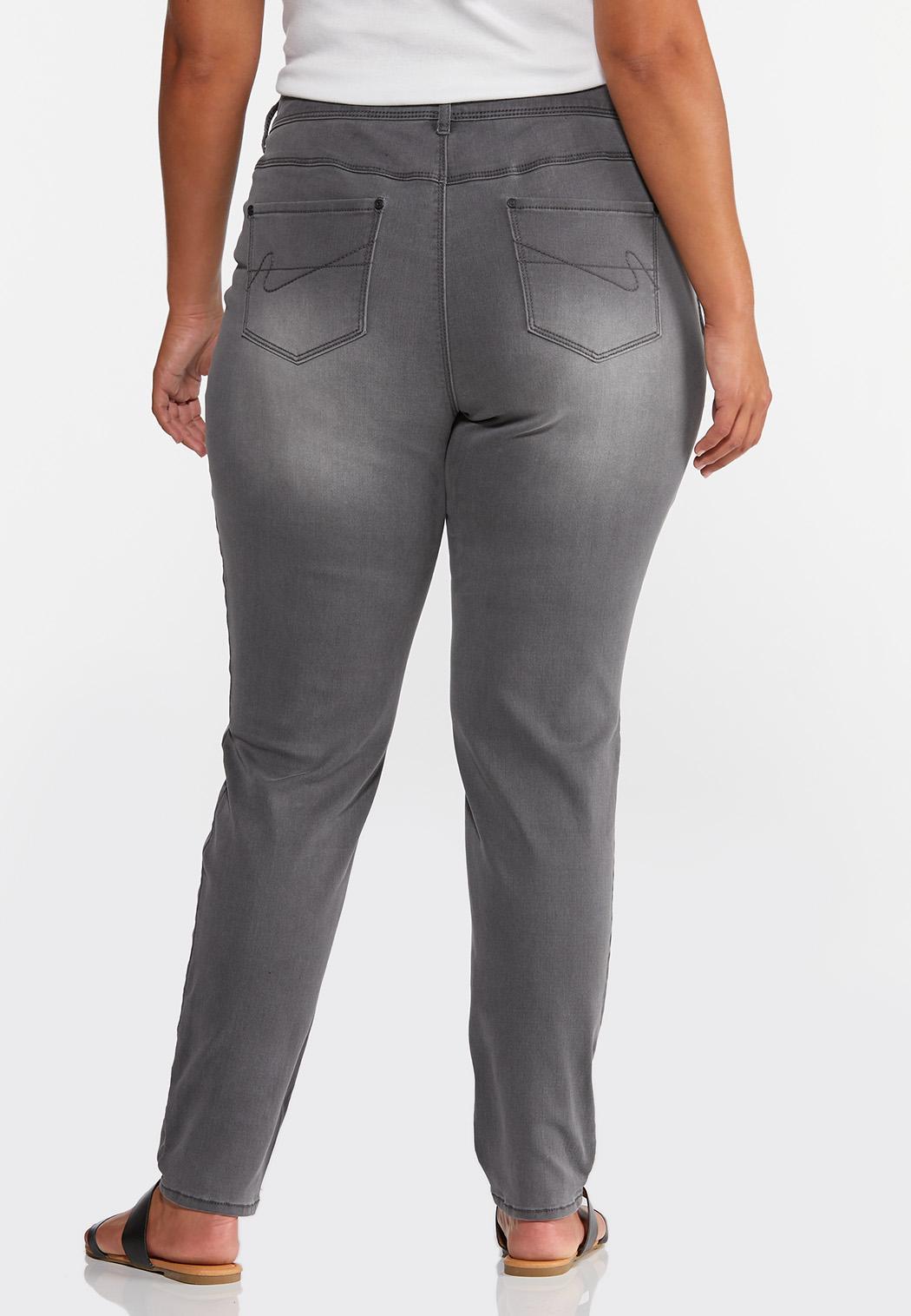 Plus Size Gray Jeggings (Item #44378400)
