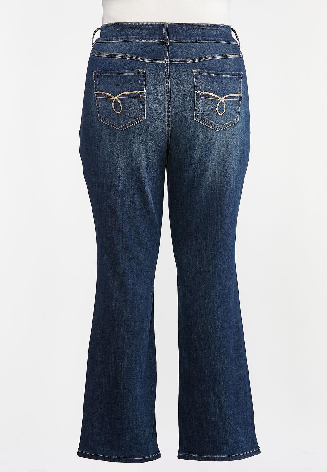 Plus Petite High-Rise Bootcut Jeans (Item #44378436)