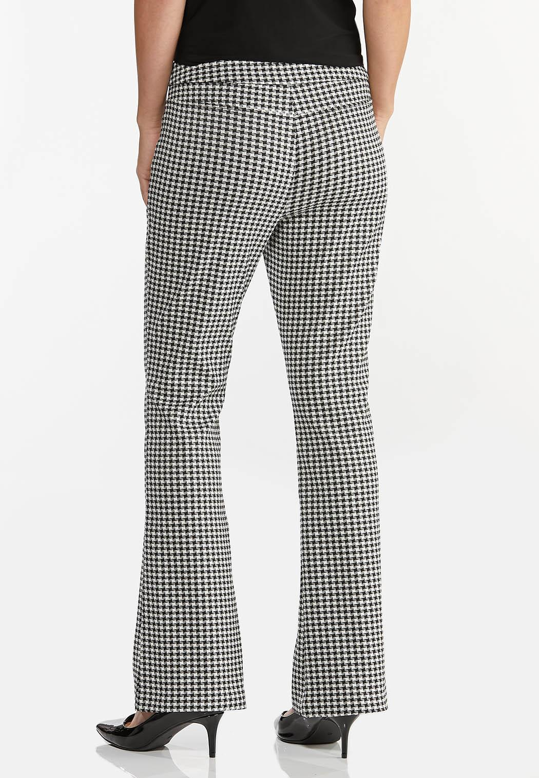 Houndstooth Flare Pants (Item #44378606)