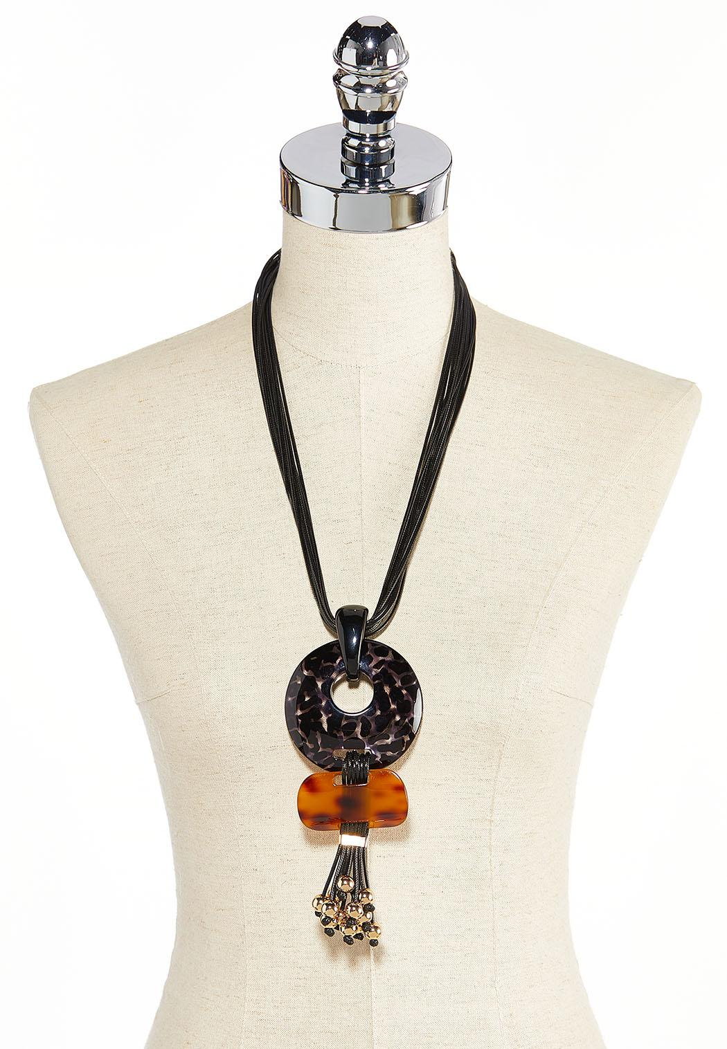 Lucite Pendant Cord Necklace (Item #44378870)