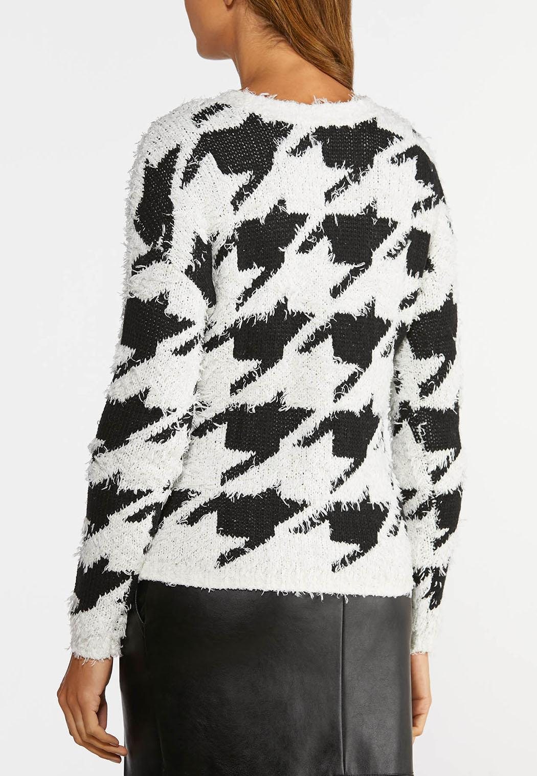 Plus Size Houndstooth Sweater (Item #44378965)