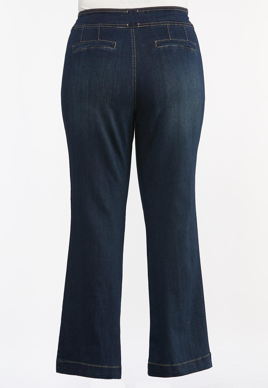 Plus Petite Double Button Jeans (Item #44378995)