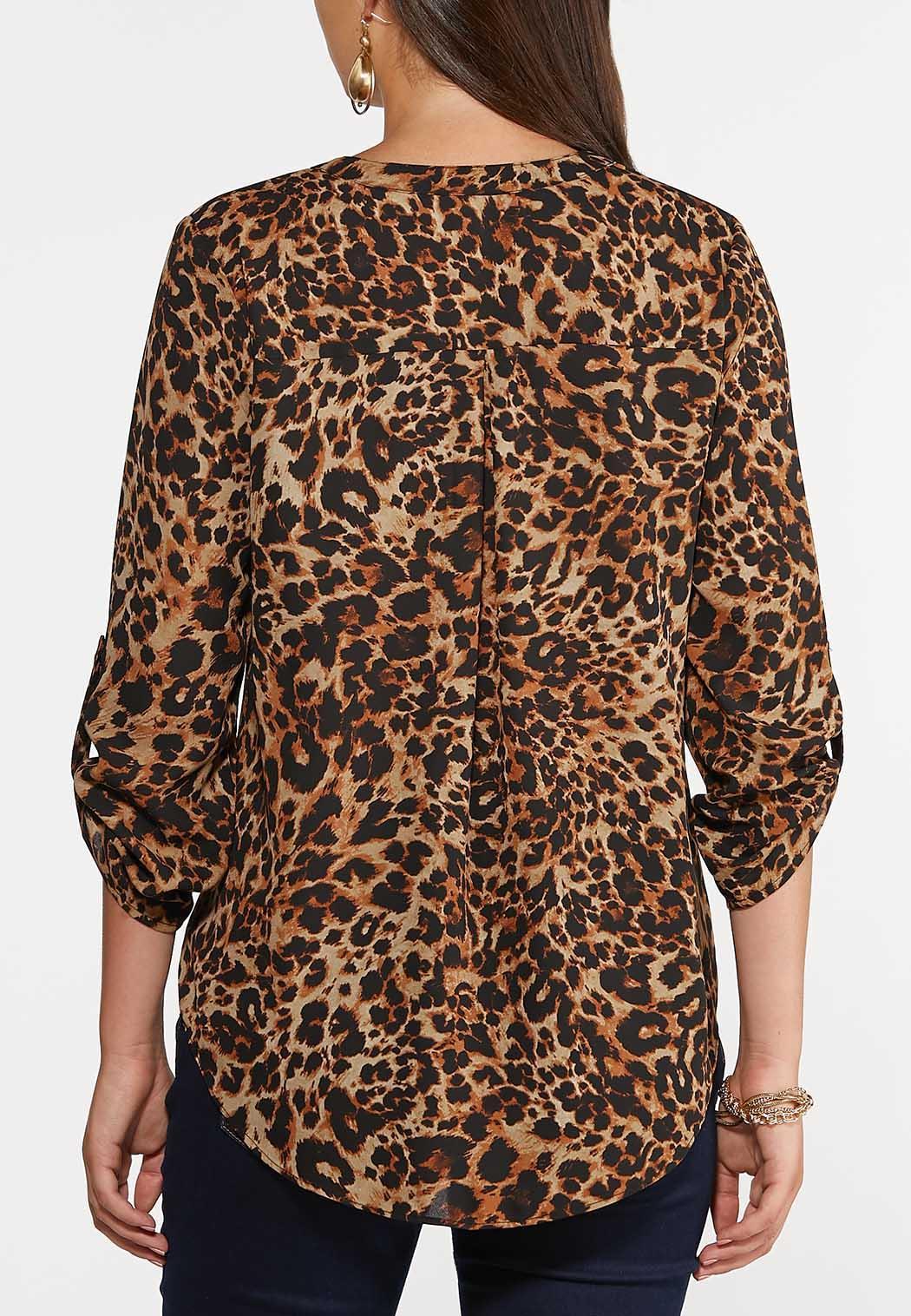 Leopard Zip Front Top (Item #44379034)