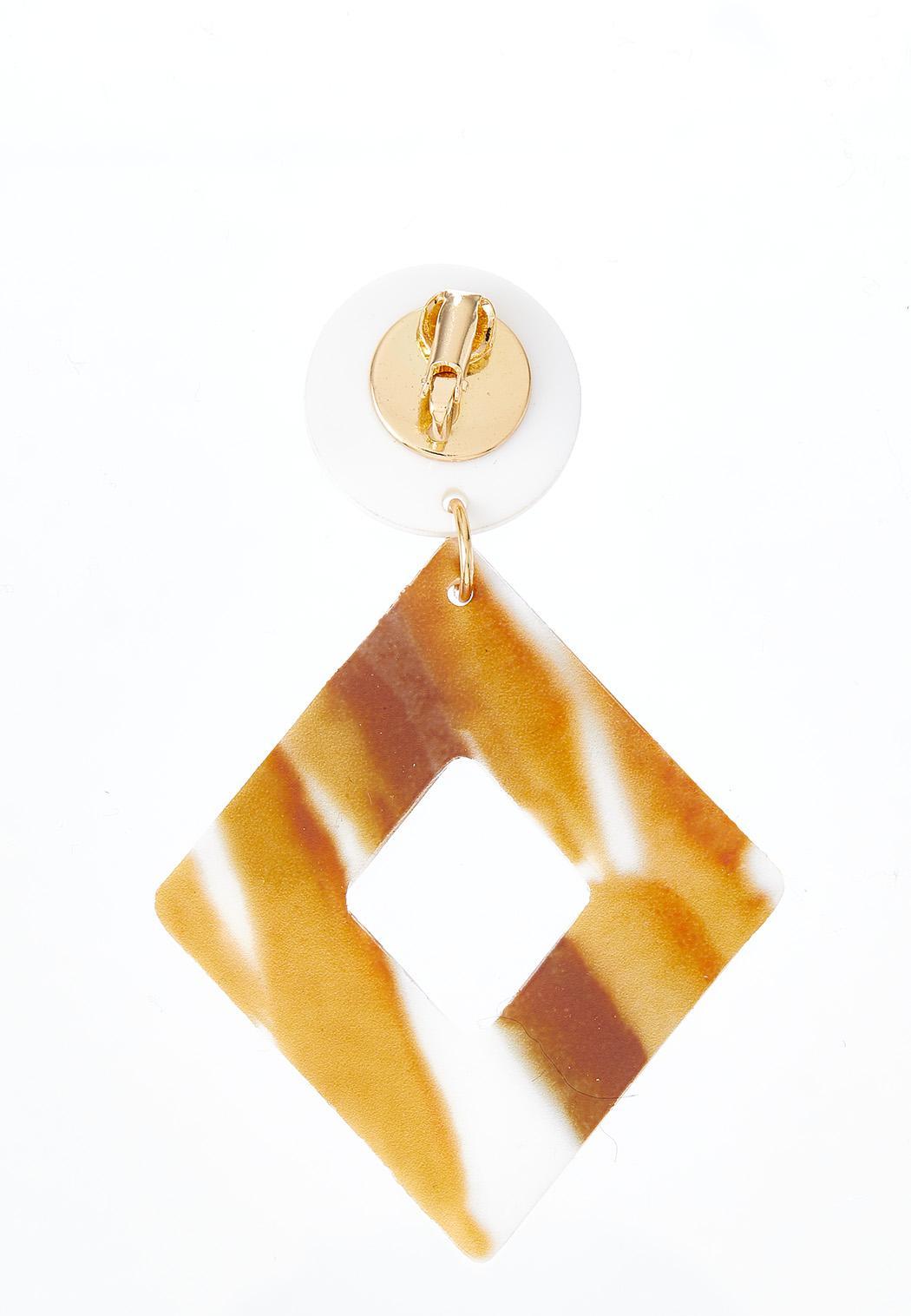 Caramel Cream Resin Earrings (Item #44379626)