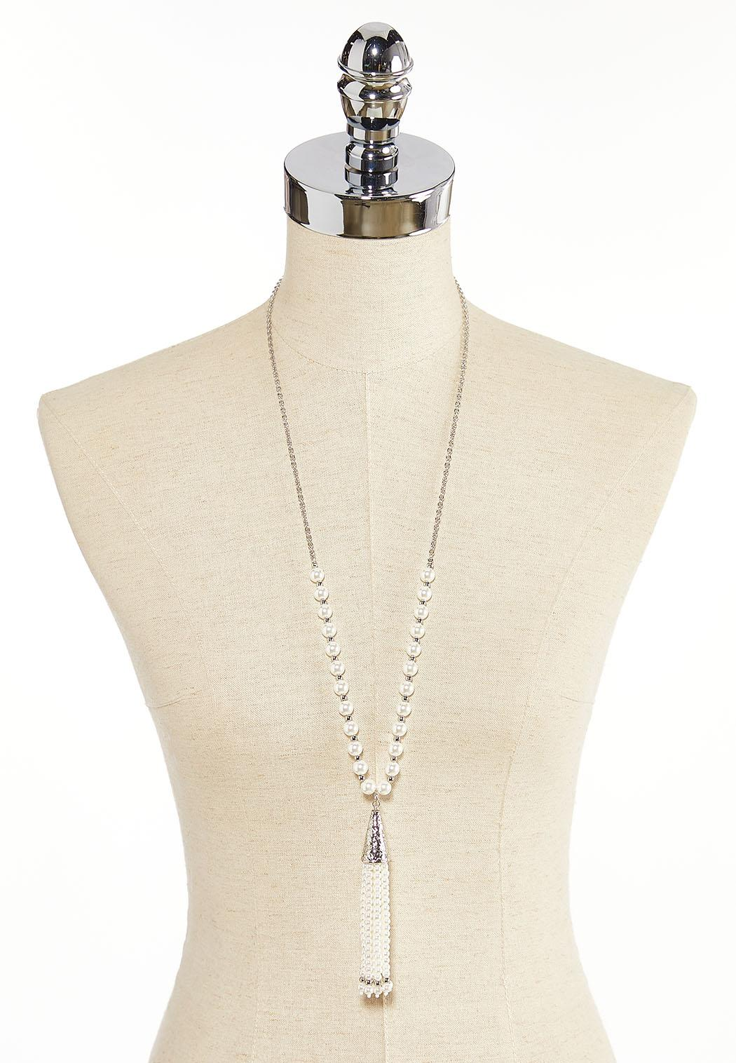 Pearl Tassel Necklace (Item #44379631)