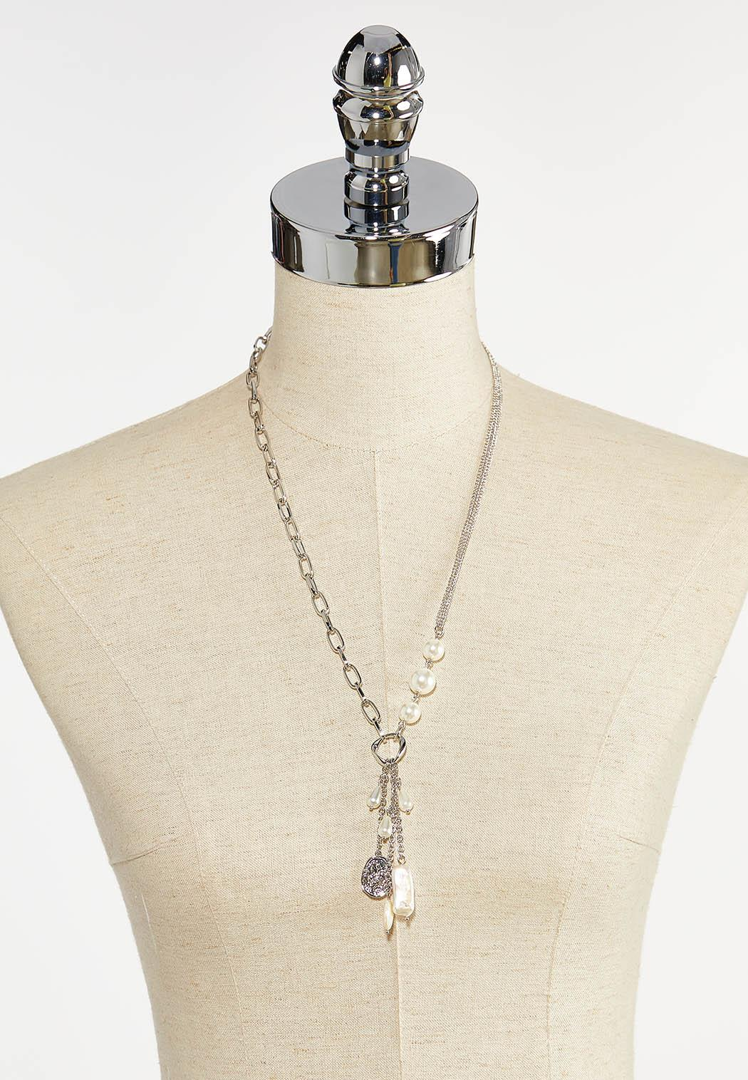 Pearl Pendant Chain Necklace (Item #44380096)