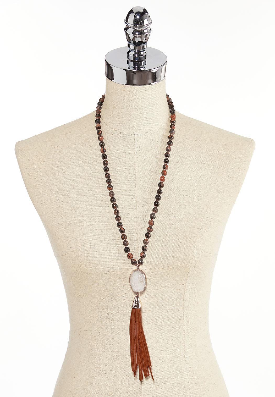Tasseled Druzy Necklace (Item #44380109)