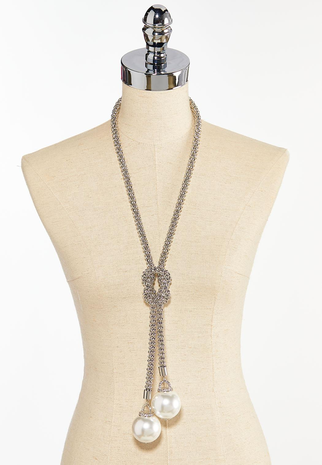Knotted Pearl Lariat (Item #44380134)
