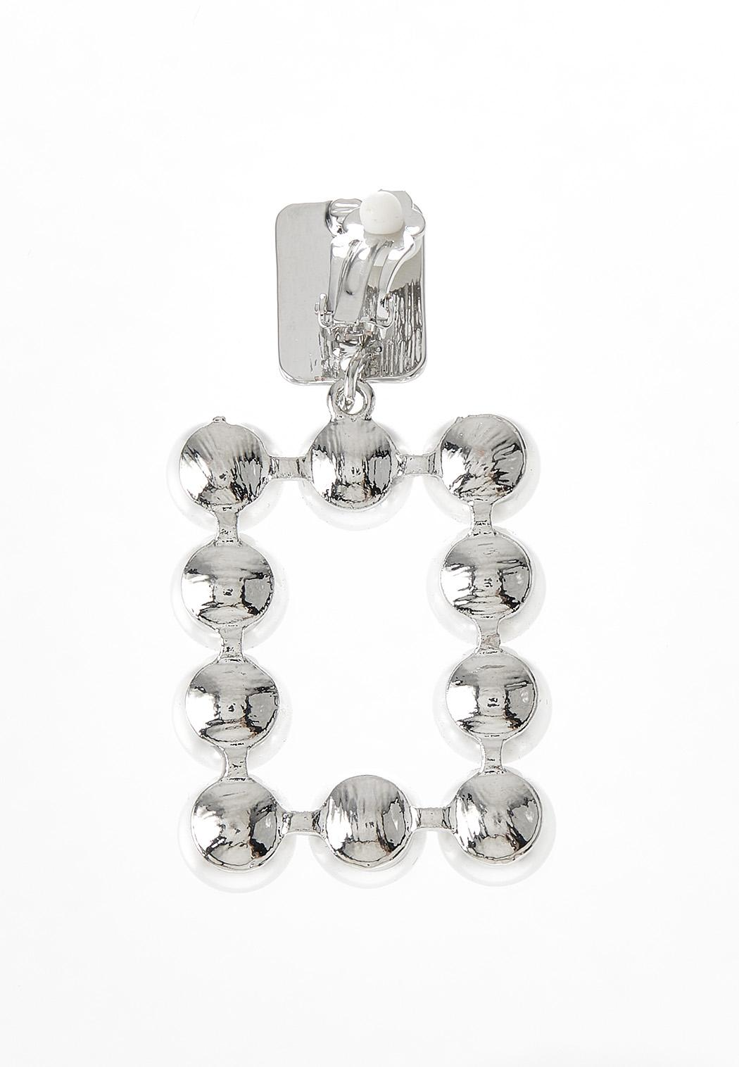 Square Pearl Clip-On Earrings (Item #44380137)