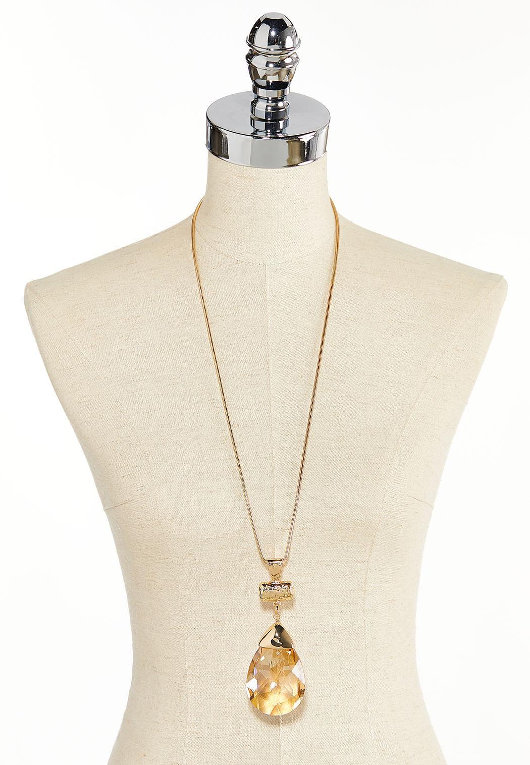 Tear Stone Pendant Necklace (Item #44380140)