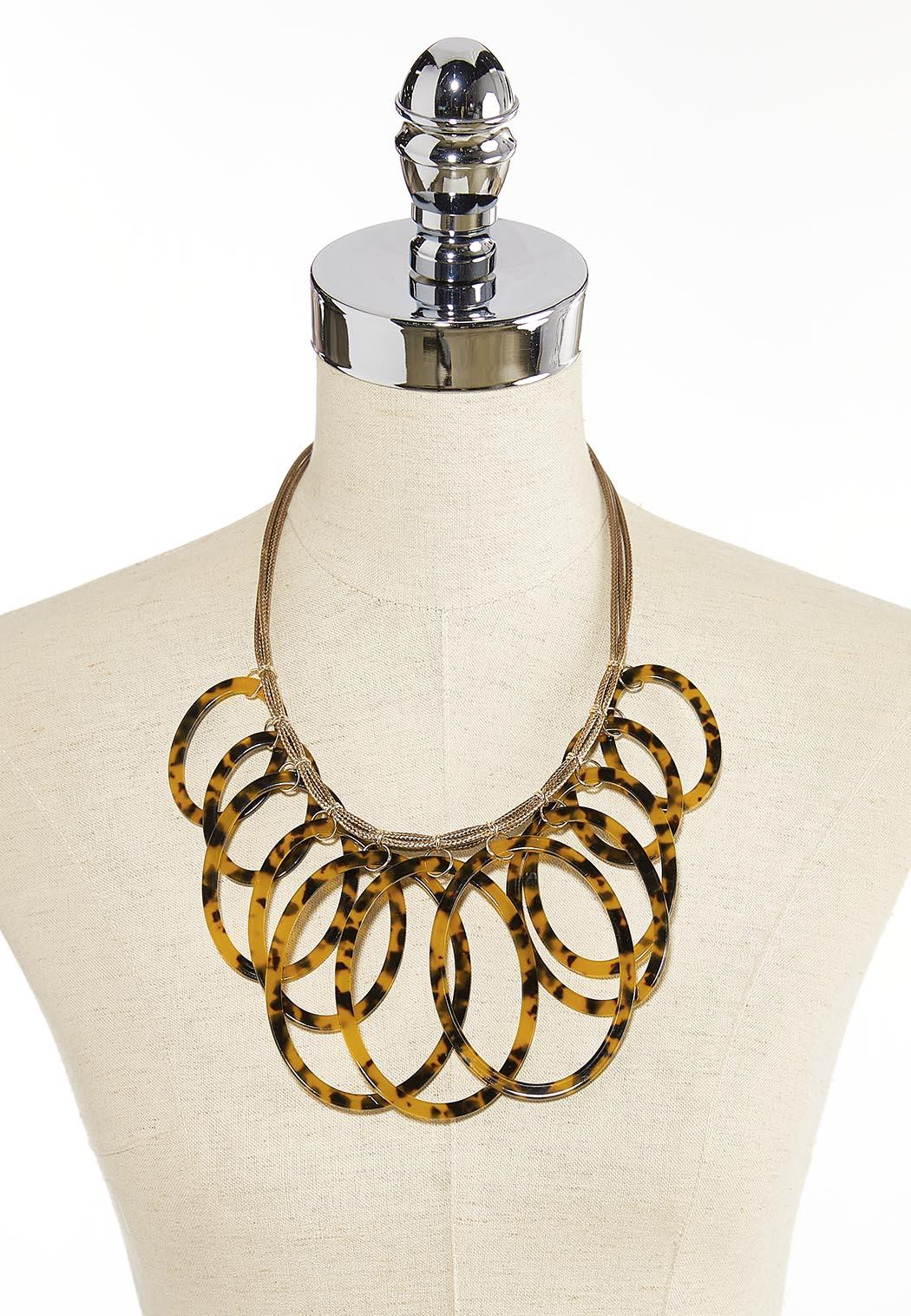 Tortoise Resin Ring Cord Necklace (Item #44380156)