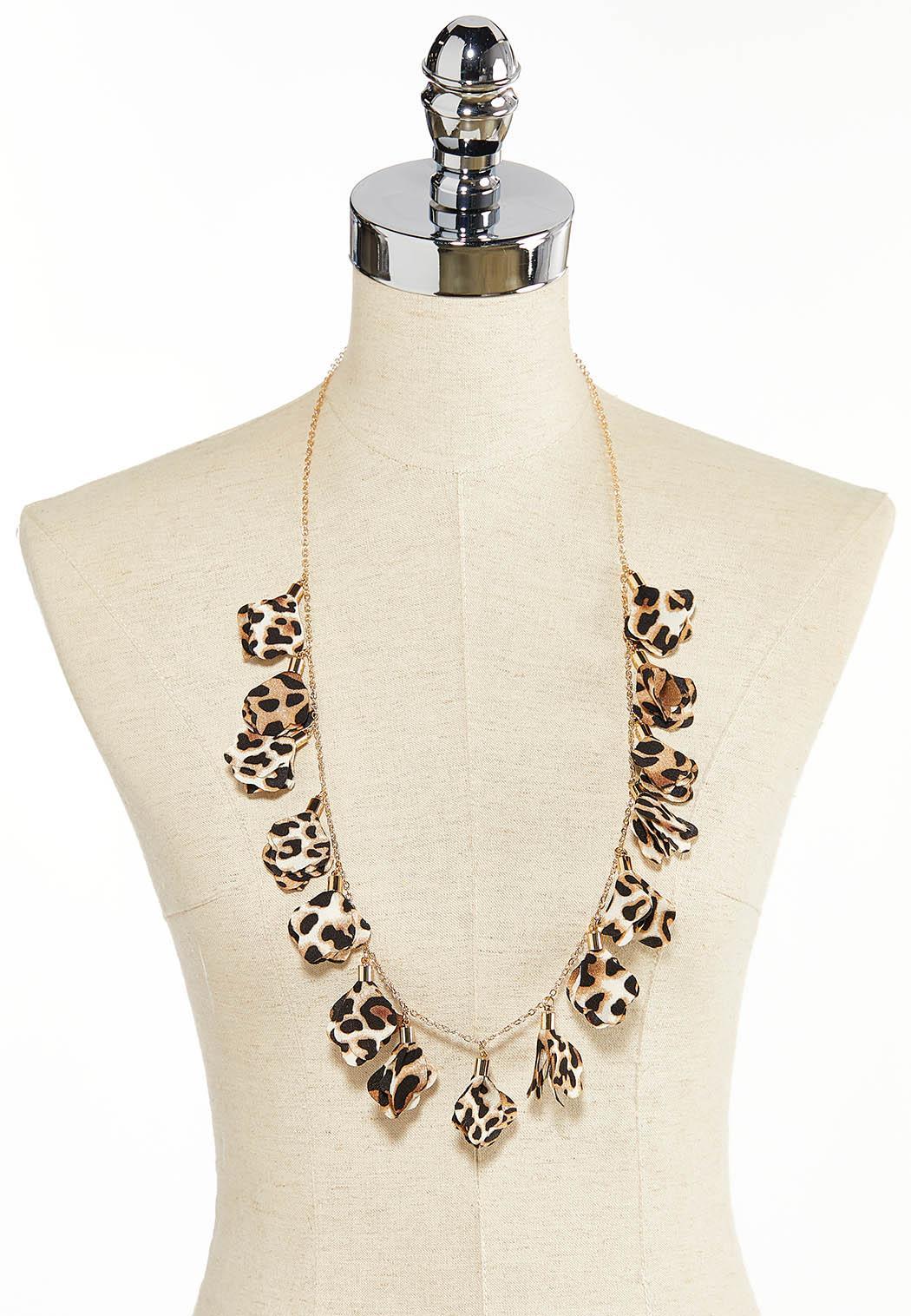 Leopard Chiffon Petal Necklace (Item #44380158)