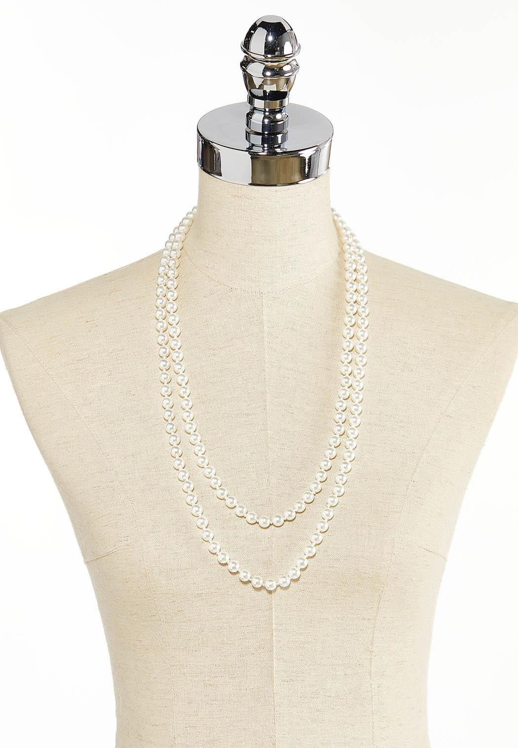 Layered Pearl Necklace (Item #44380324)