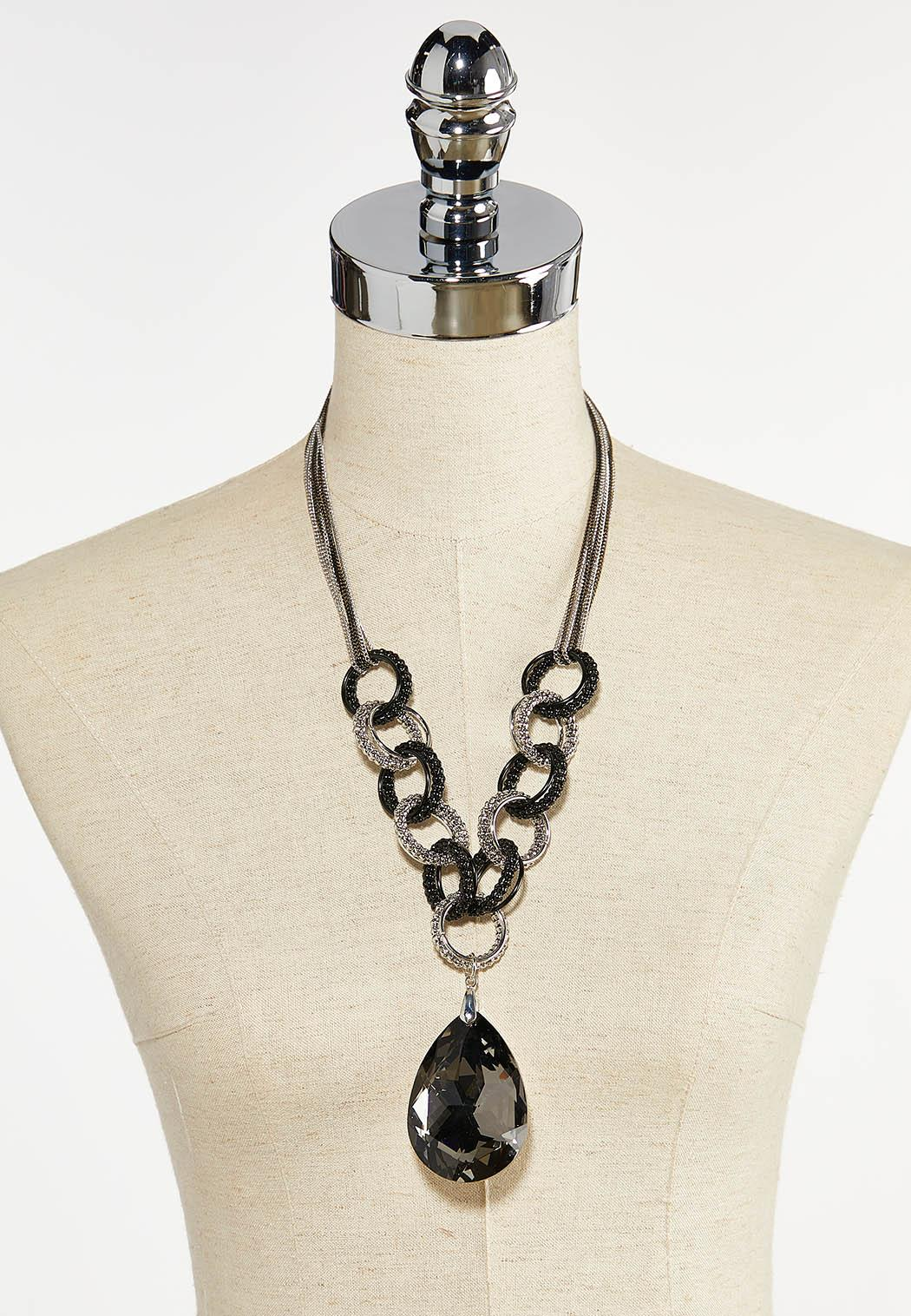 Faceted Glass Pendant Necklace (Item #44380572)