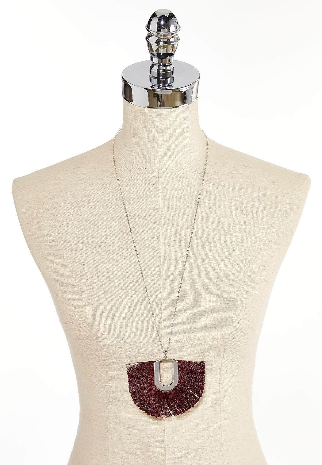 Wine Tassel Pendant Necklace (Item #44380662)
