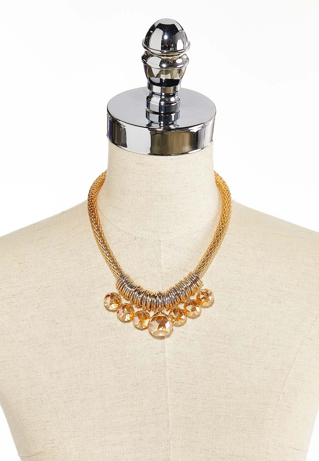 Faceted Glass Bead Necklace (Item #44380664)