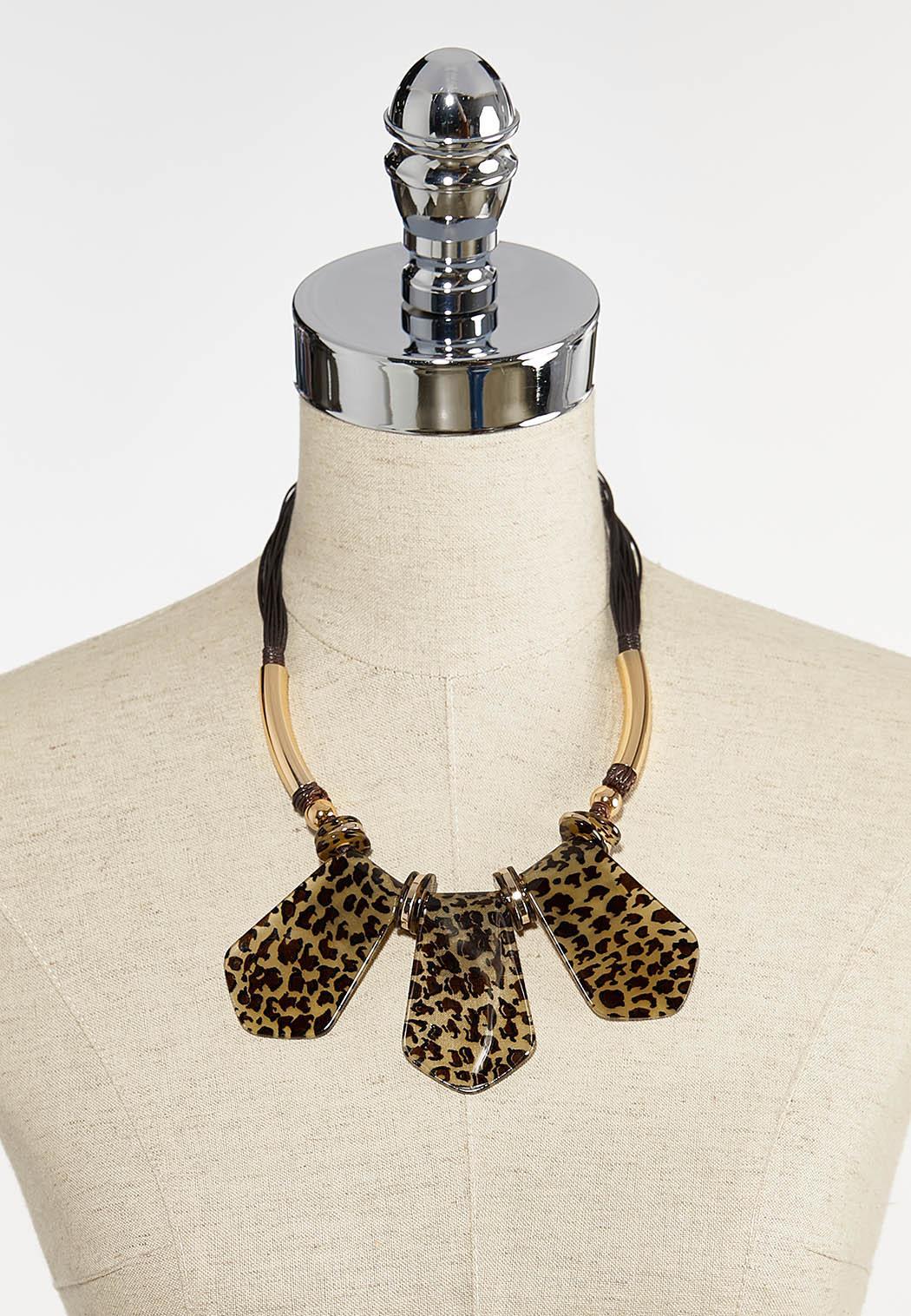 Leopard Lucite Cord Necklace (Item #44380695)