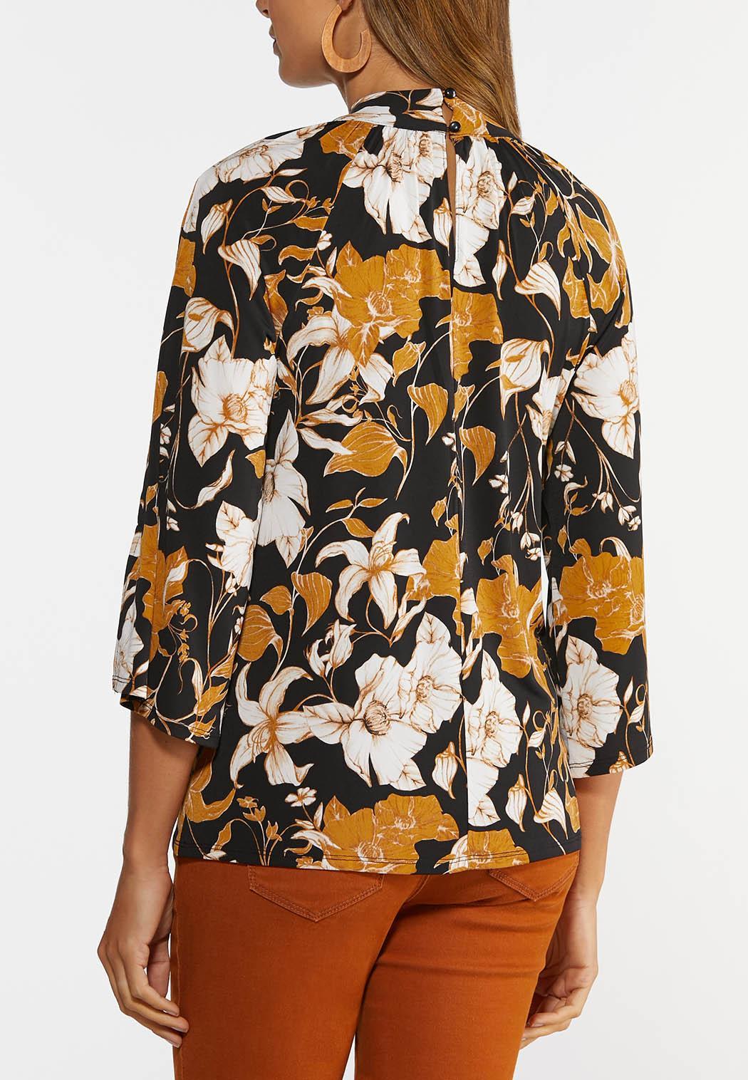 Floral Mock Neck Top (Item #44380841)