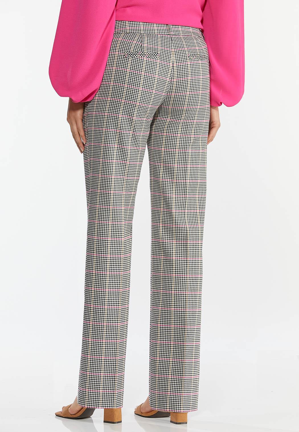 Petite Pink Plaid Trouser Pants (Item #44380907)