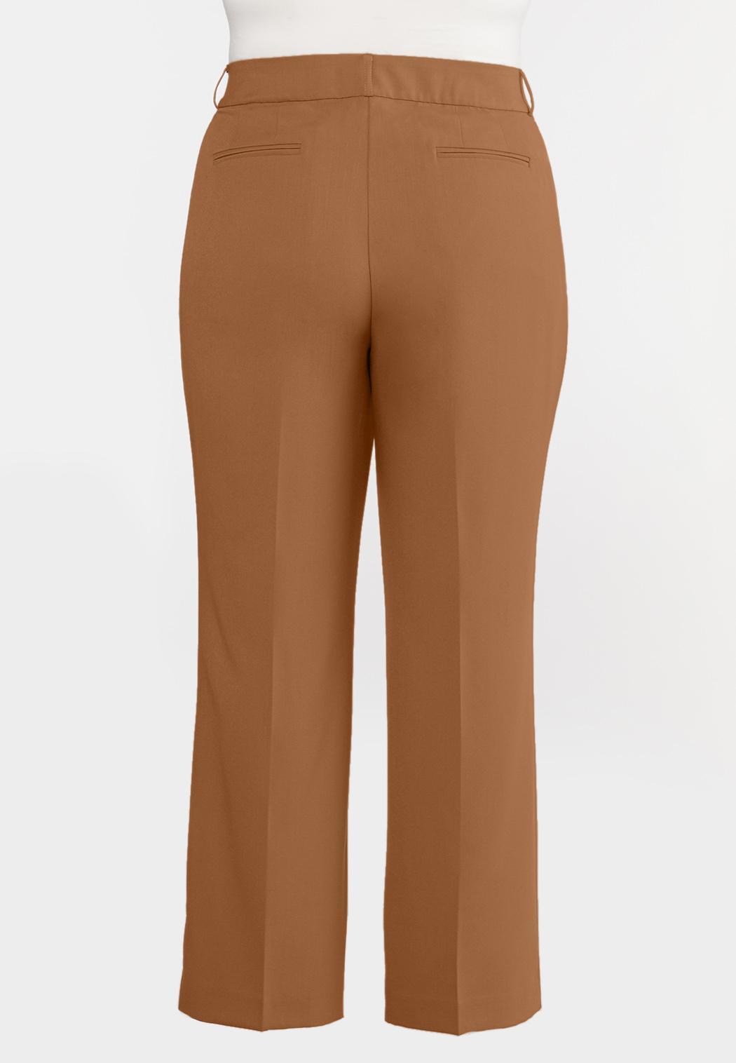 Plus Size Stretch Waist Trouser Pants (Item #44381001)