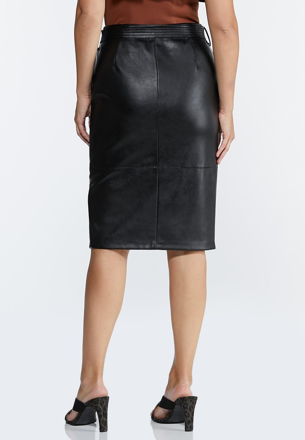 Faux Leather Pencil Skirt (Item #44381437)
