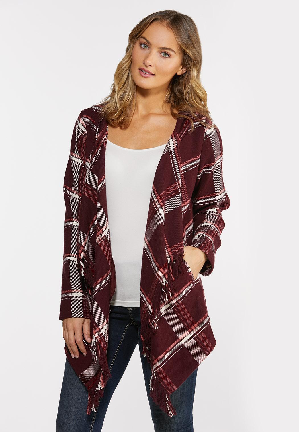 Wine Plaid Jacket (Item #44381485)