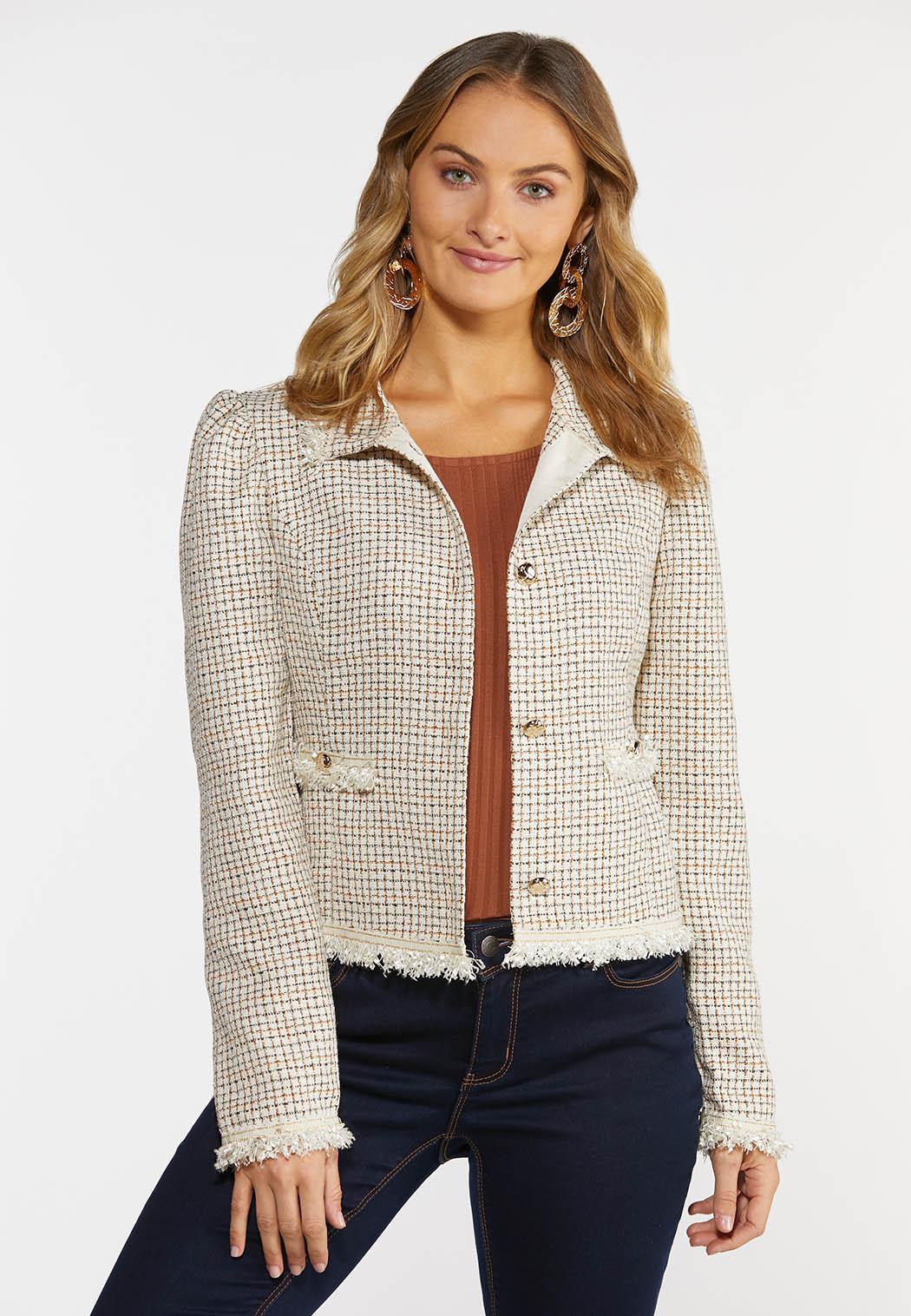 Tweed Fringe Jacket (Item #44381505)
