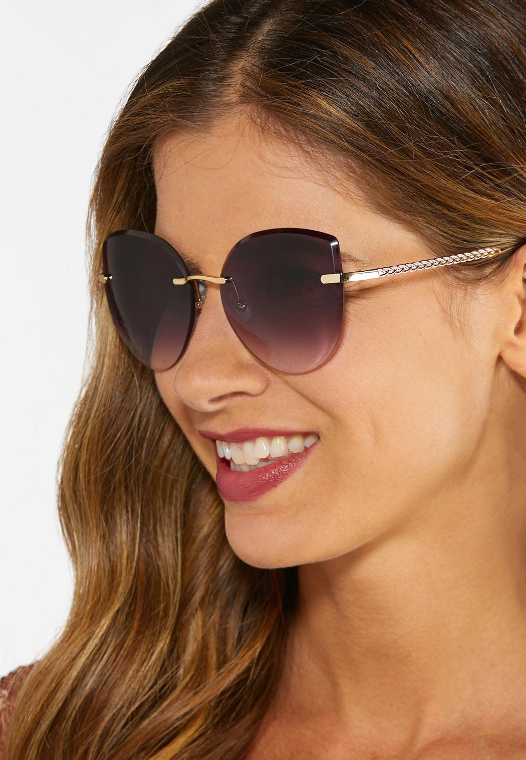Rimless Chain Link Sunglasses (Item #44381611)