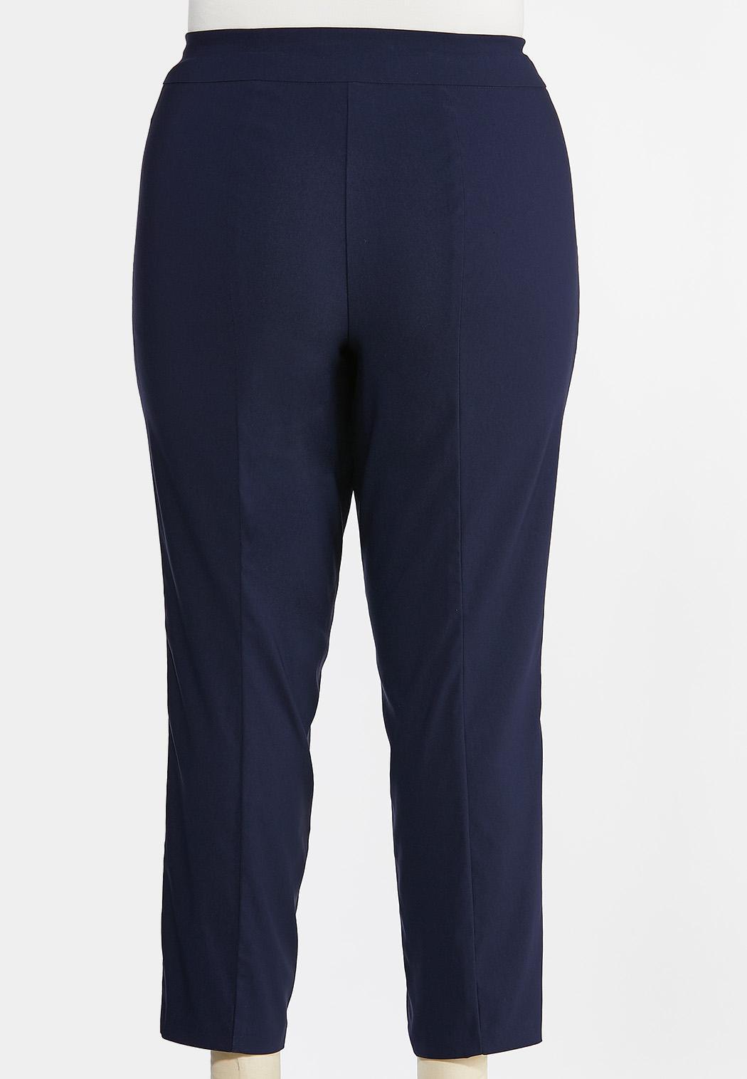 Plus Size Slim Leg Bengaline Pants (Item #44382914)