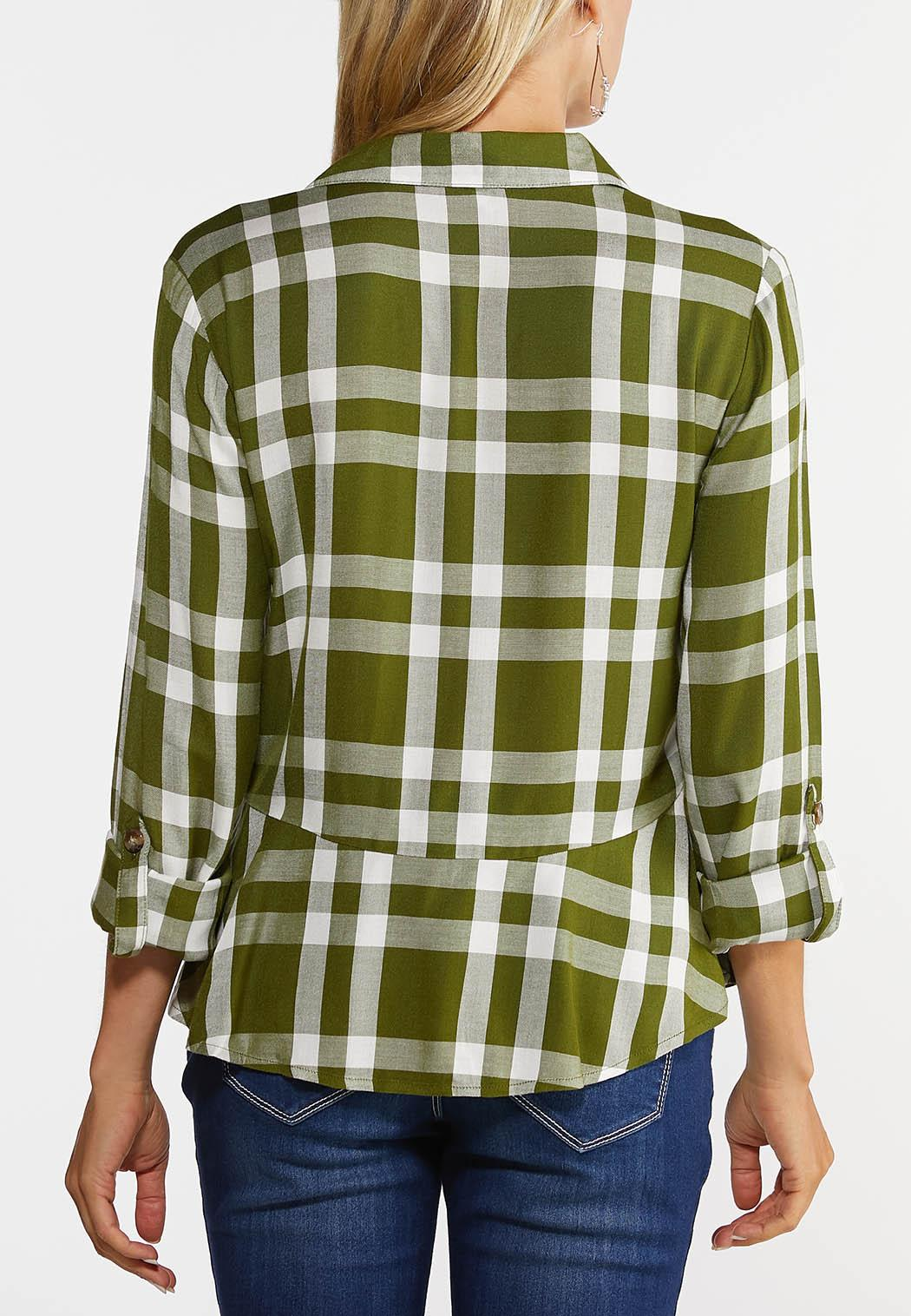 Plaid Peplum Shirt (Item #44382958)