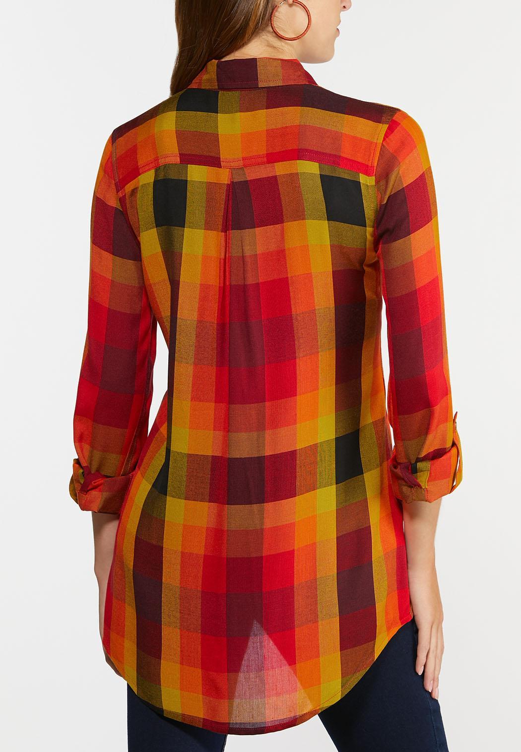 Plus Size Sunny Plaid Tunic (Item #44383084)
