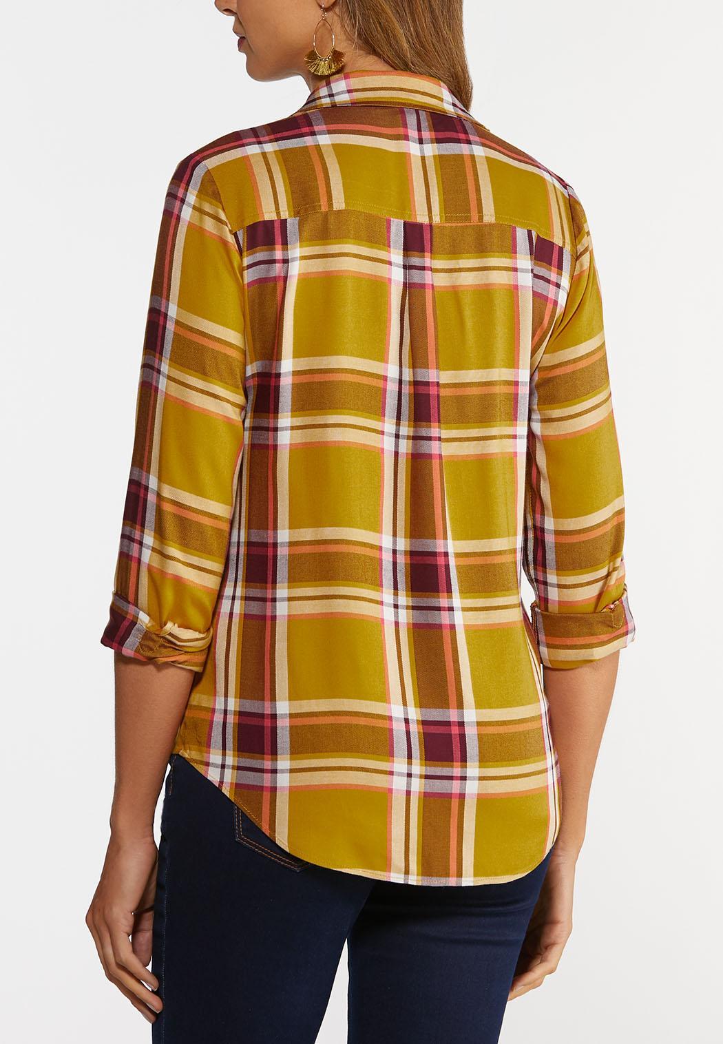 Plus Size Honey Plaid Shirt (Item #44383134)