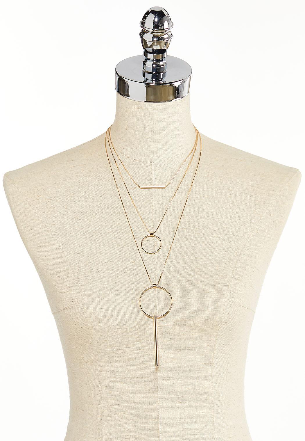 Layered Circle Bar Necklace (Item #44383206)