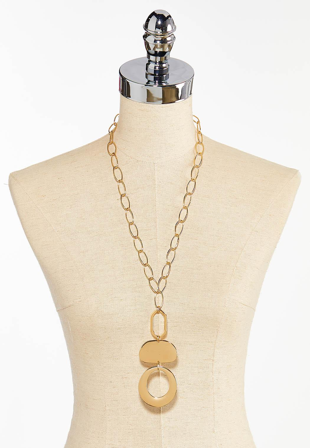 Tiered Geo Pendant Necklace (Item #44383216)