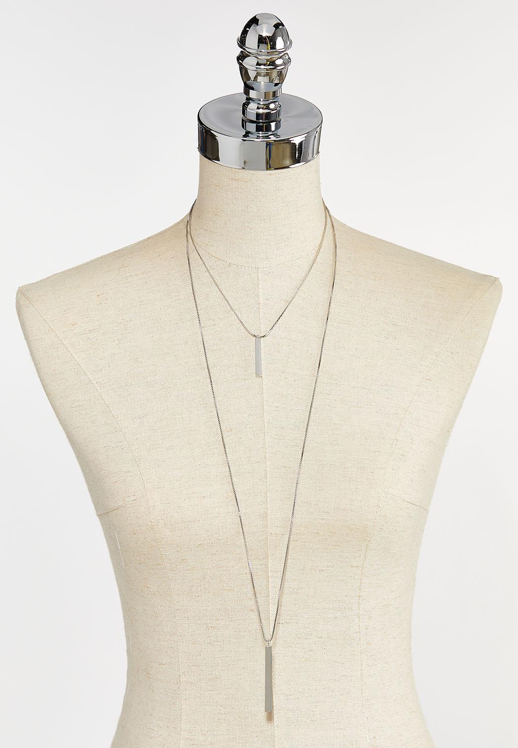 Layered Metal Bar Necklace (Item #44383421)