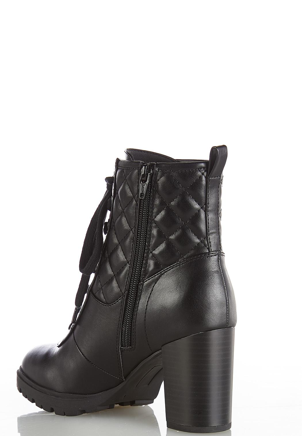 Quilted Lace Up Boots (Item #44383871)