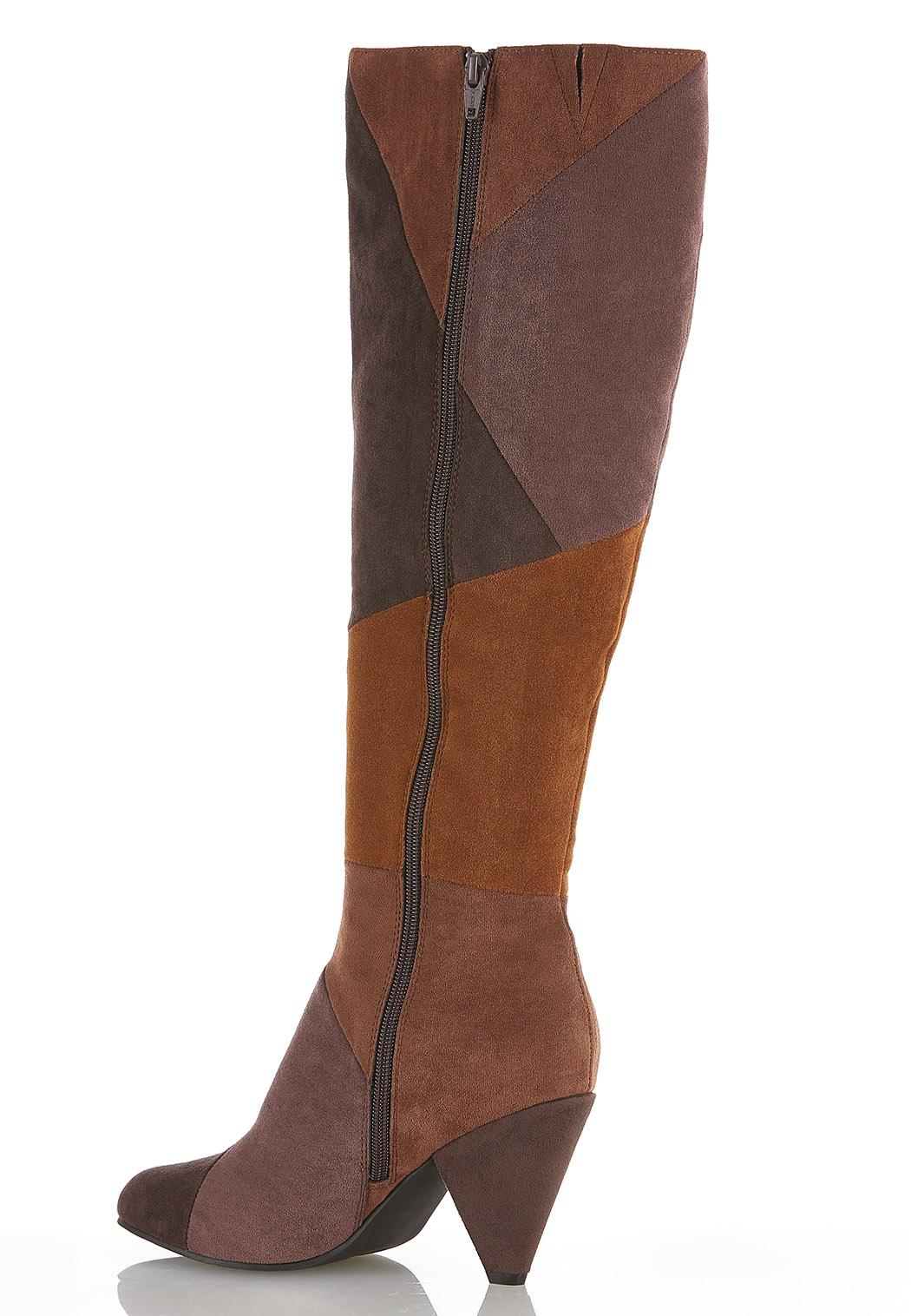 Patchwork Tall Boots (Item #44383947)