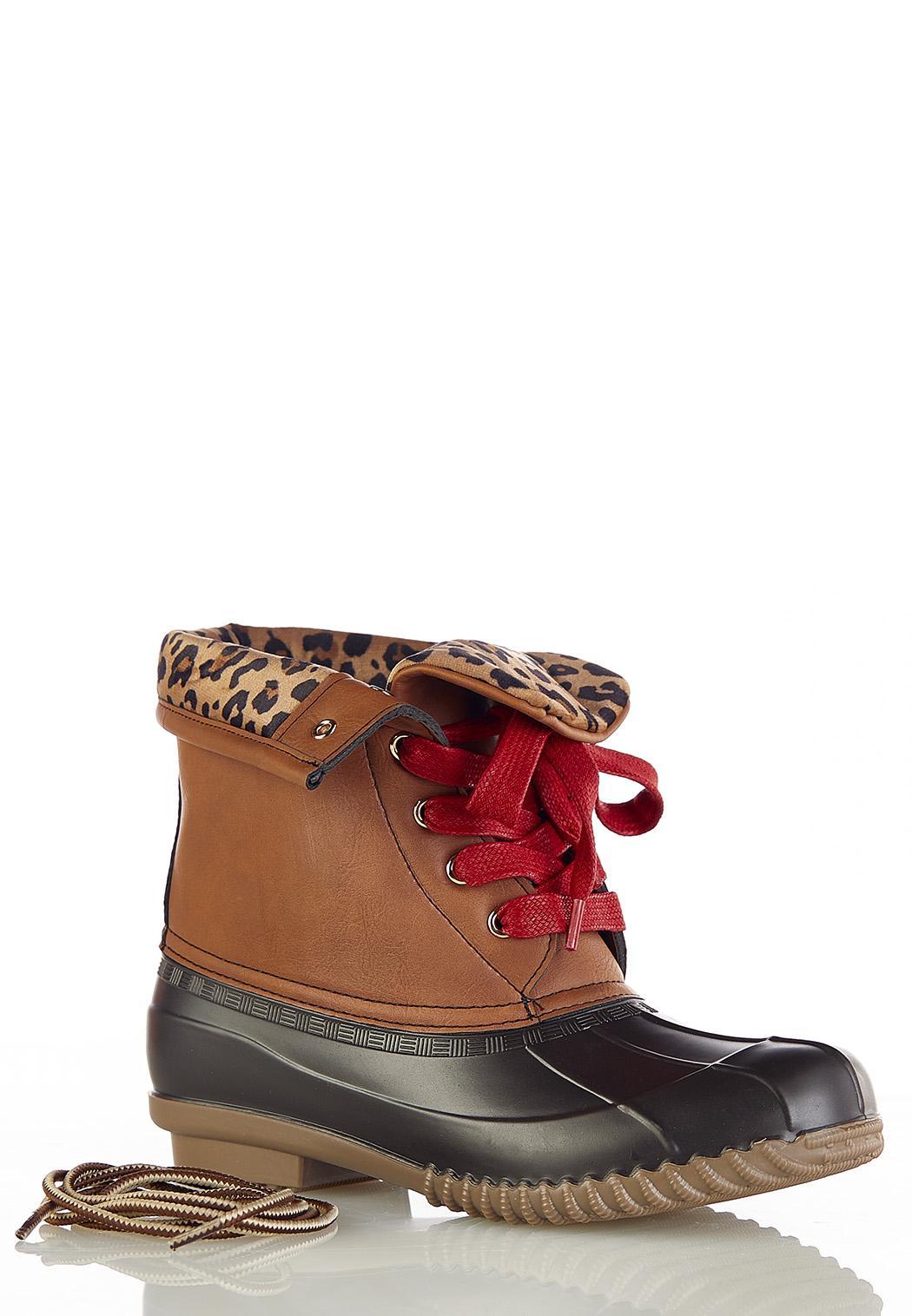 Leopard Cuff Duck Boot (Item #44384270)