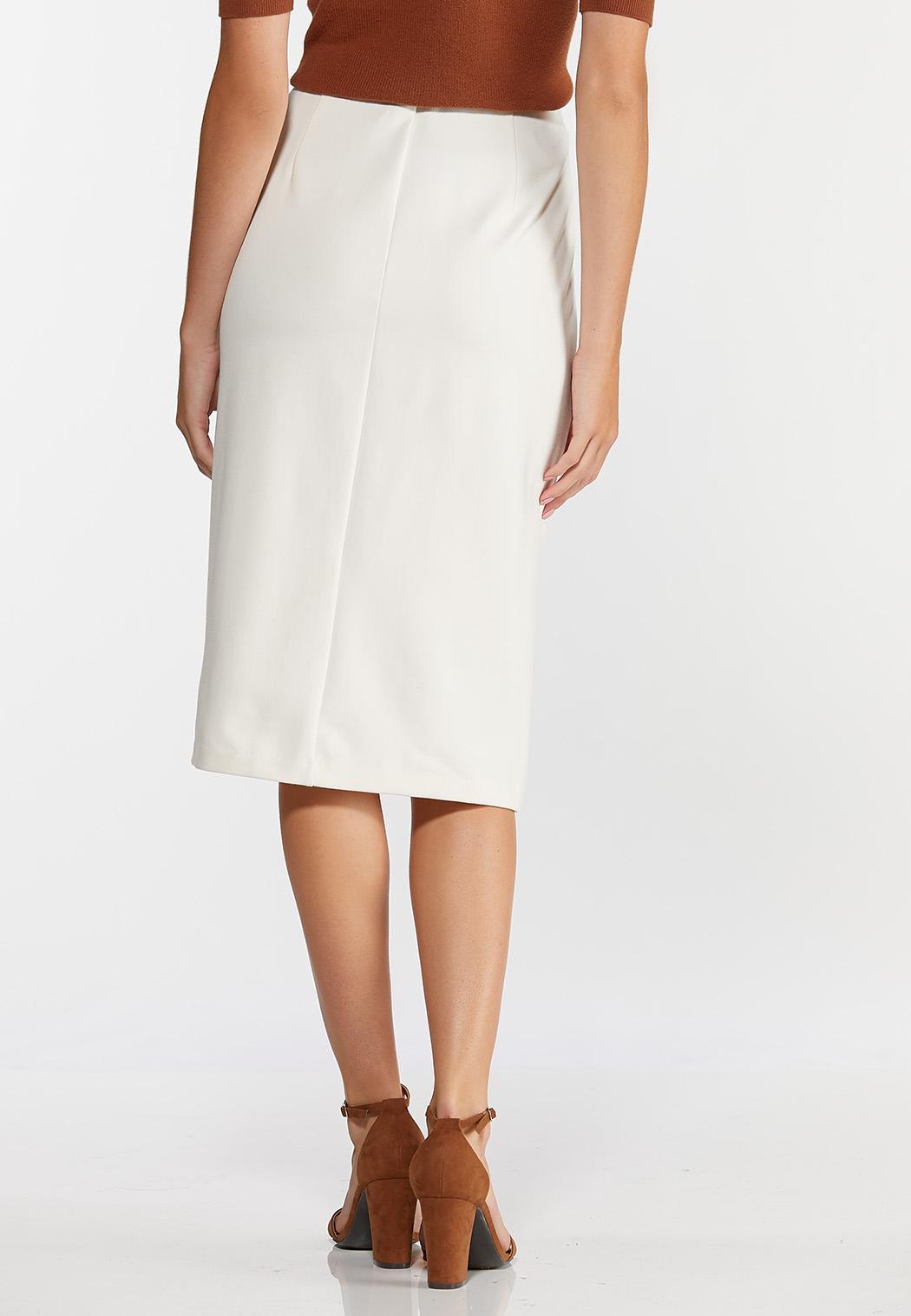 Ponte Tie Waist Pencil Skirt (Item #44384431)