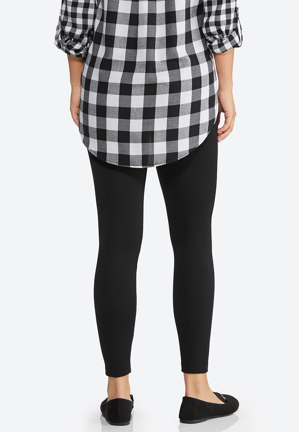 Solid Fleece Lined Leggings (Item #44384893)