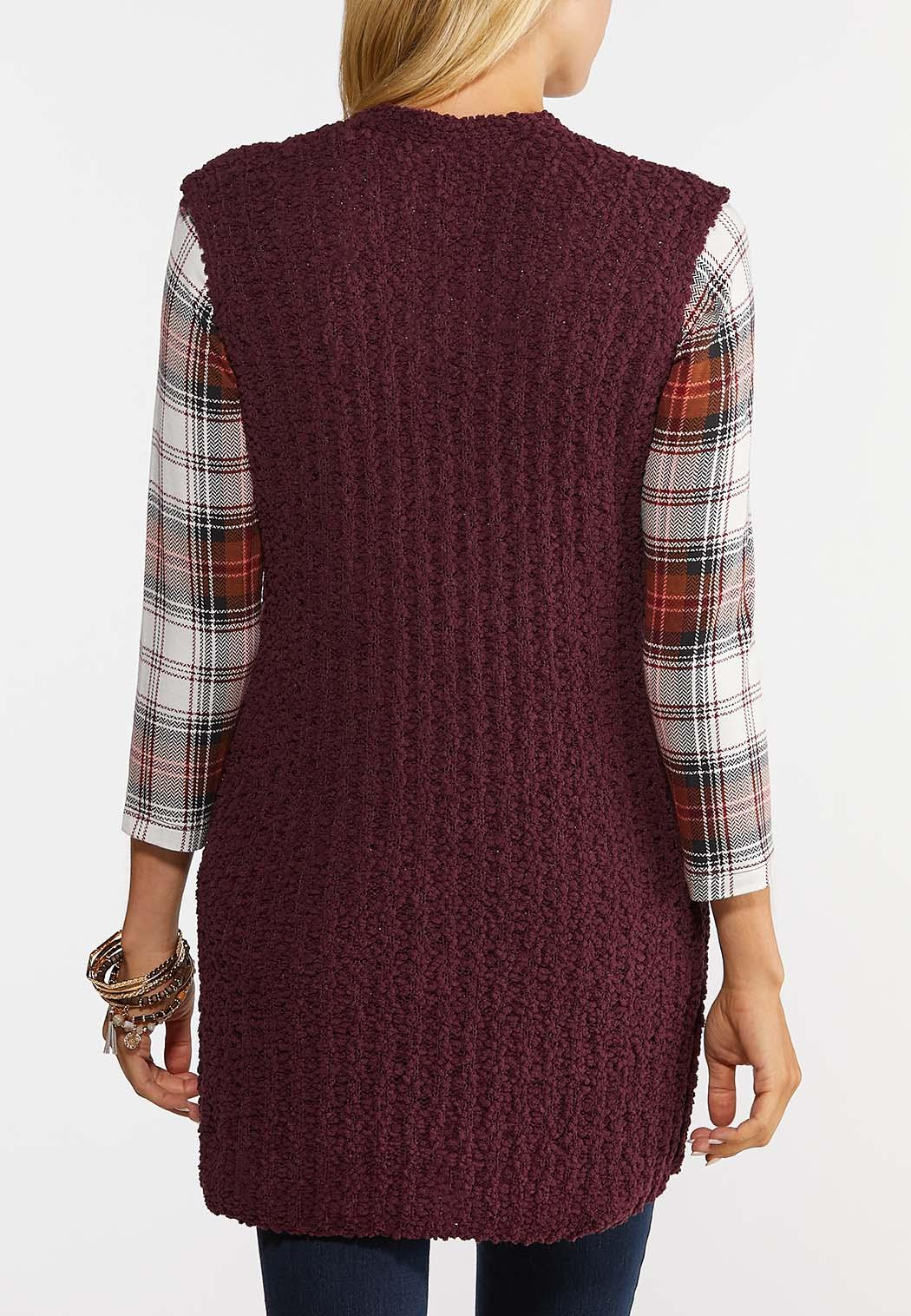 Teddy Duster Sweater Vest (Item #44385387)