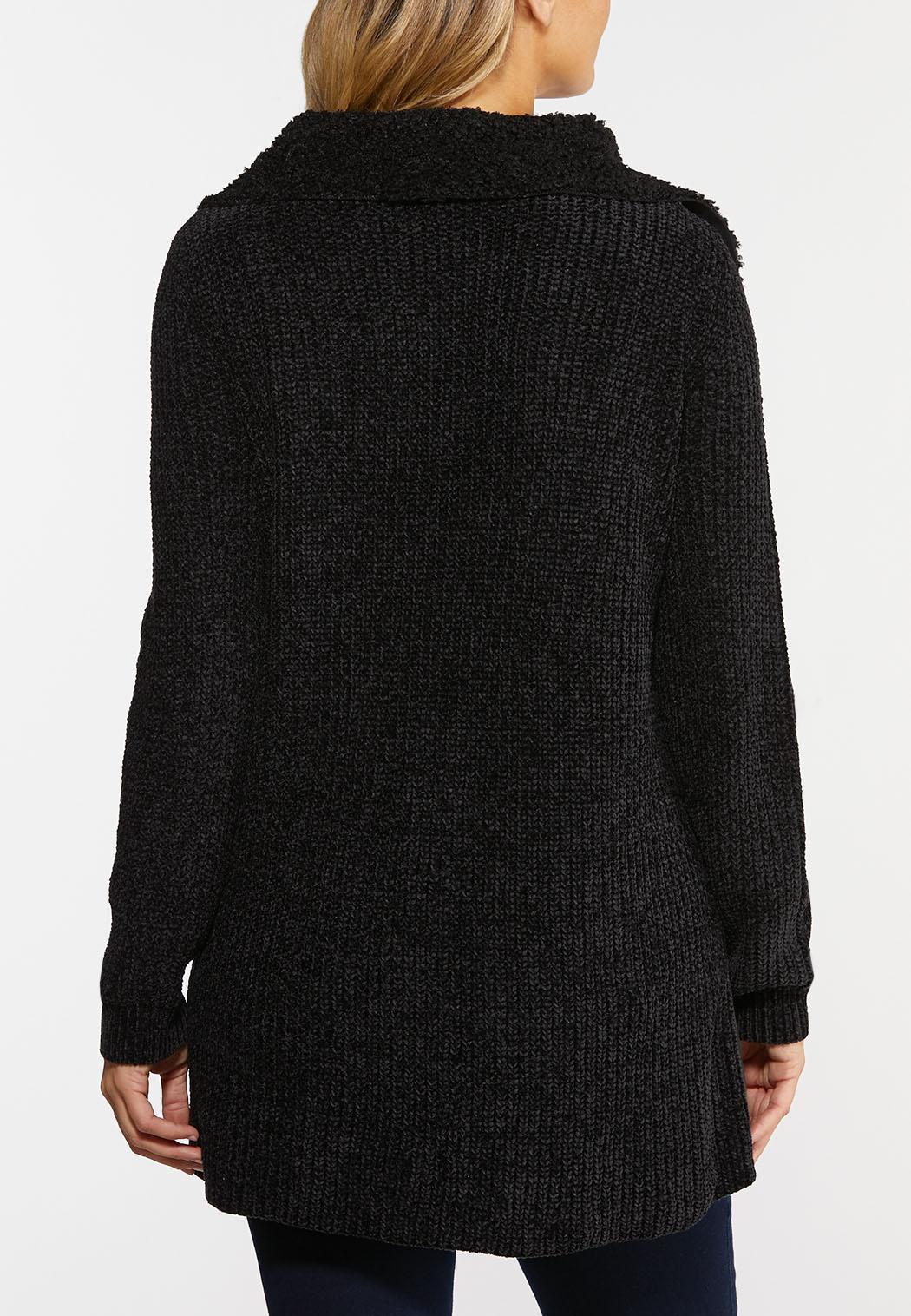 Sherpa Front Cardigan Sweater (Item #44385444)