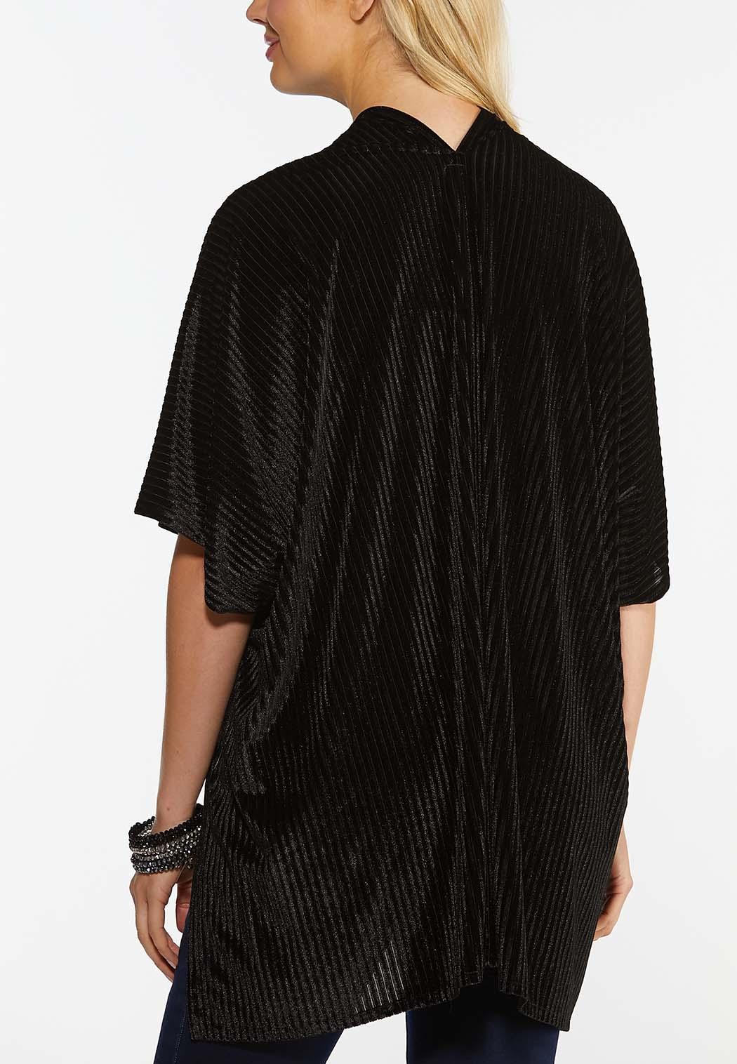 Velvet Ribbed Kimono (Item #44385802)