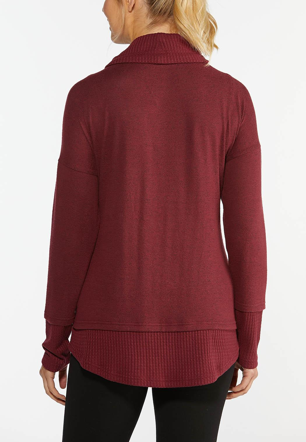 Hacci Cowl Neck Sweatshirt (Item #44386365)